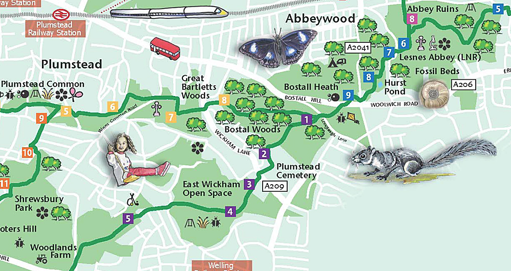 Green Chain Walk Map Woolwich Online: Explore South East London On Foot With 'A Trail  Green Chain Walk Map