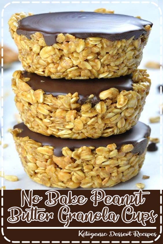 If you are looking for healthy and easy recipes to make ahead and have on hand when you ne No Bake Peanut Butter Granola Cups