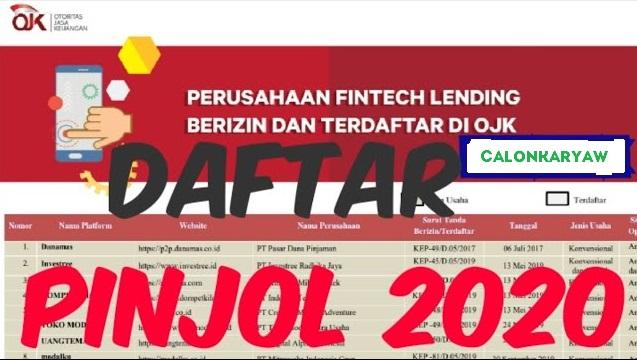 148 Daftar Aplikasi Pinjaman Online (Pinjol) Resmi OJK