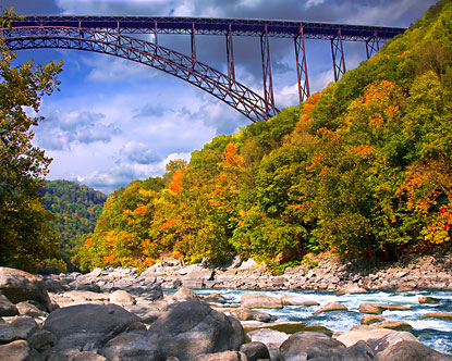 New River Gorge BridgeNew River Gorge Bridge Fall