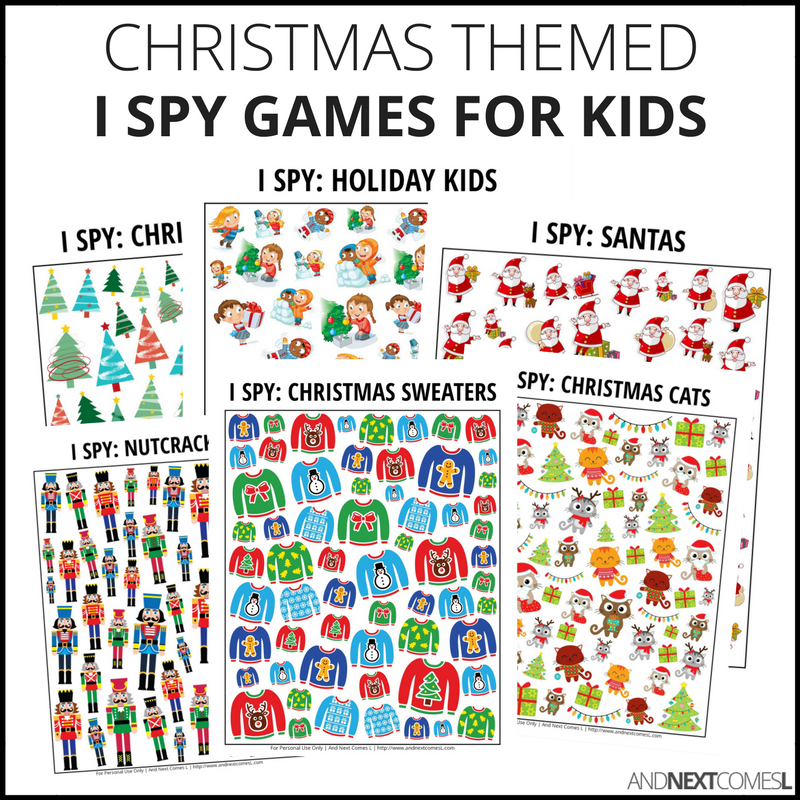 d2fcd2df4a Christmas I Spy Bundle Pack · Christmas themed I spy games for kids from And  Next Comes L
