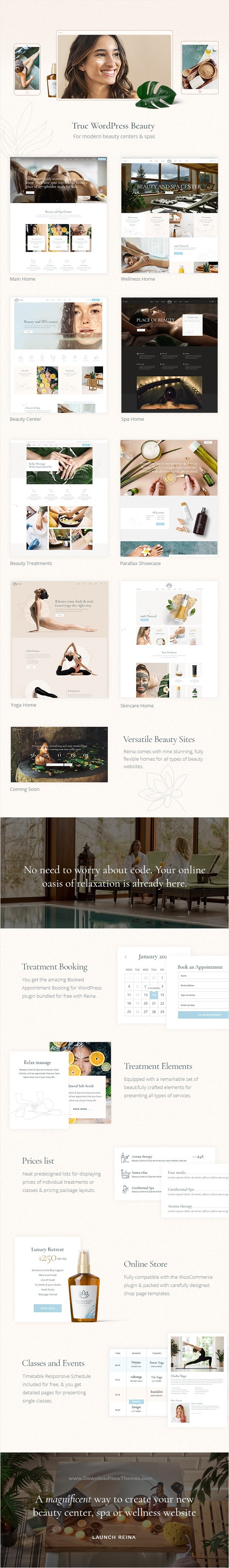Spa and Wellness Website Theme