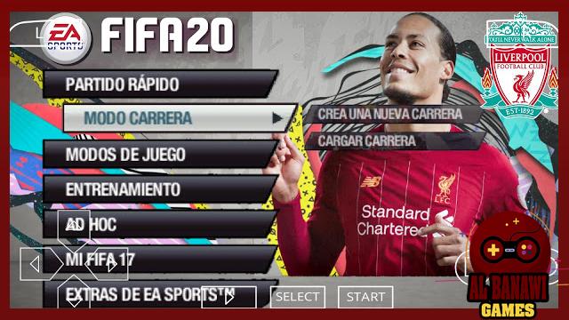 تحميل لعبة فيفا FIFA 2020 لاجهزة PSP بصيغة iso بحجم صغير من الميديا فاير