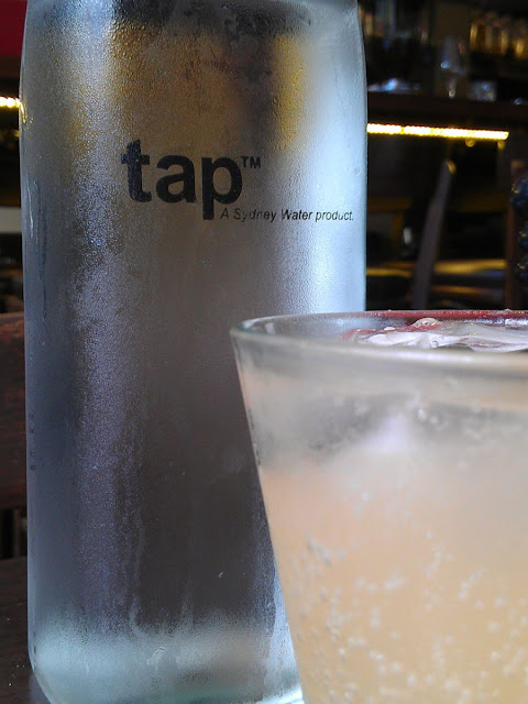 Tap (TM) water at Bar Zini