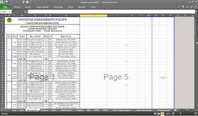 Cara Menghilangkan Garis Biru (Page Break Preview) di Microsoft Excel 2010