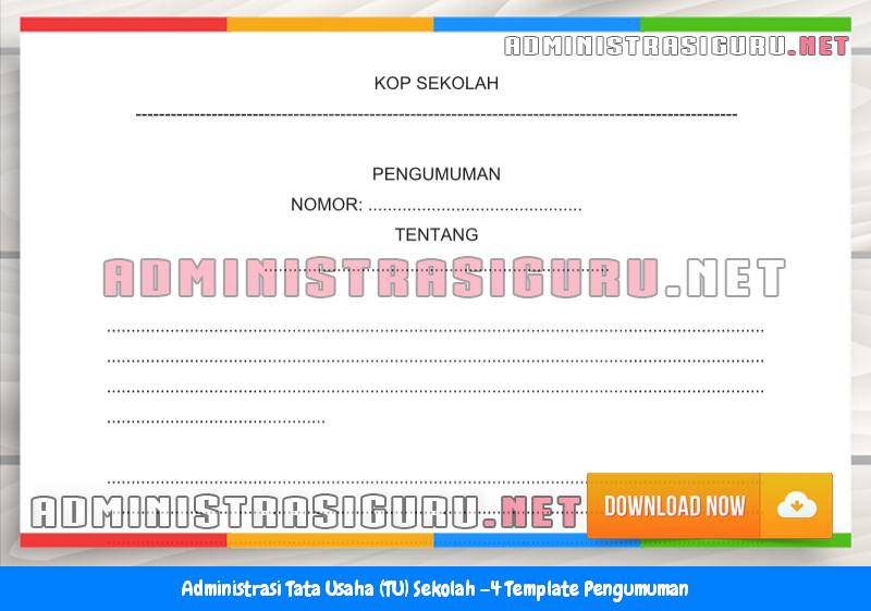 Contoh Format Pengumuman Administrasi Tata Usaha Sekolah Terbaru Tahun 2015-2016.docx