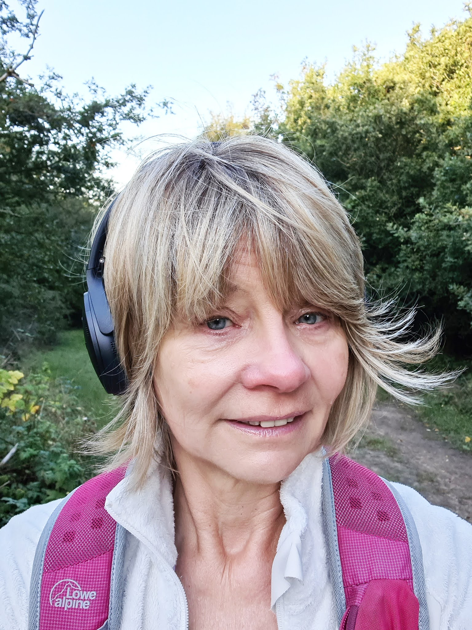 Is This Mutton's Gail Hanlon on a walk listening as always to a podcast. Check out her monthly Friday Favourites for recommendations