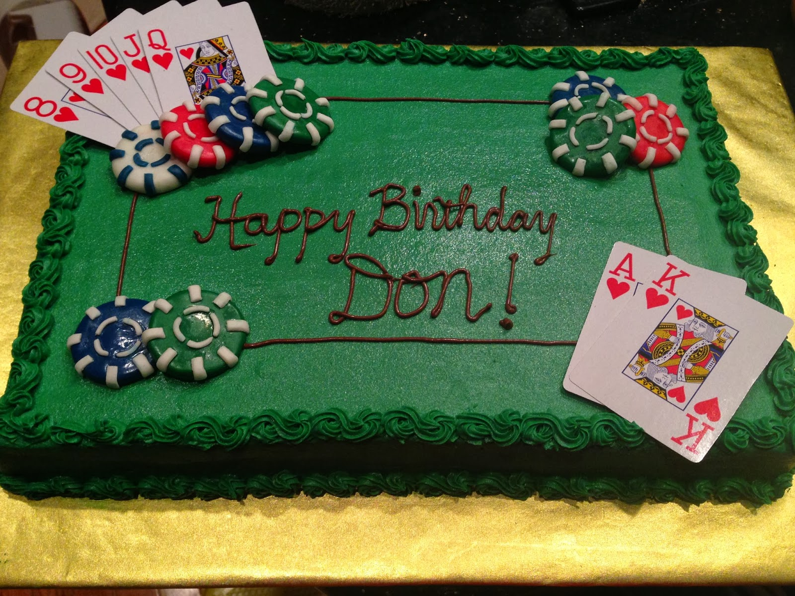 Joyce Gourmet Texas Hold Em Birthday Cake