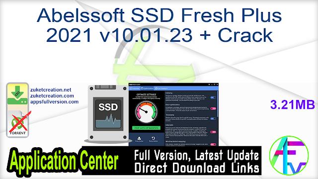 Abelssoft SSD Fresh Plus 2021 v10.01.23 + Crack