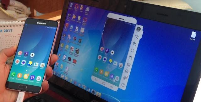 Tutorial Cara Mirroring dari HP Android ke Layar PC atau Laptop Tanpa ROOT tomsheru