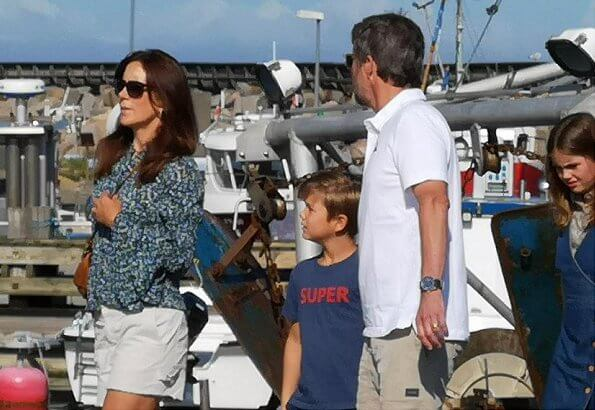 Crown Princess Mary wore Michael Kors floral print blouse bell cuffs and Chloe Marcie bag. Princess Isabella