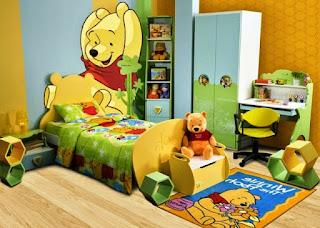 Contoh Gambar Desain Kamar Anak Winnie the Pooh 2001
