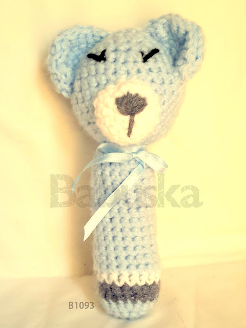 Sonajero tejido a crochet  (B1093) Babuska