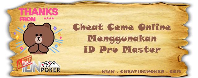 Cheat Ceme Online Menggunakan ID Pro Master