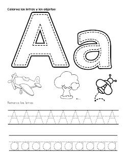 Trazo del abecedario letra A