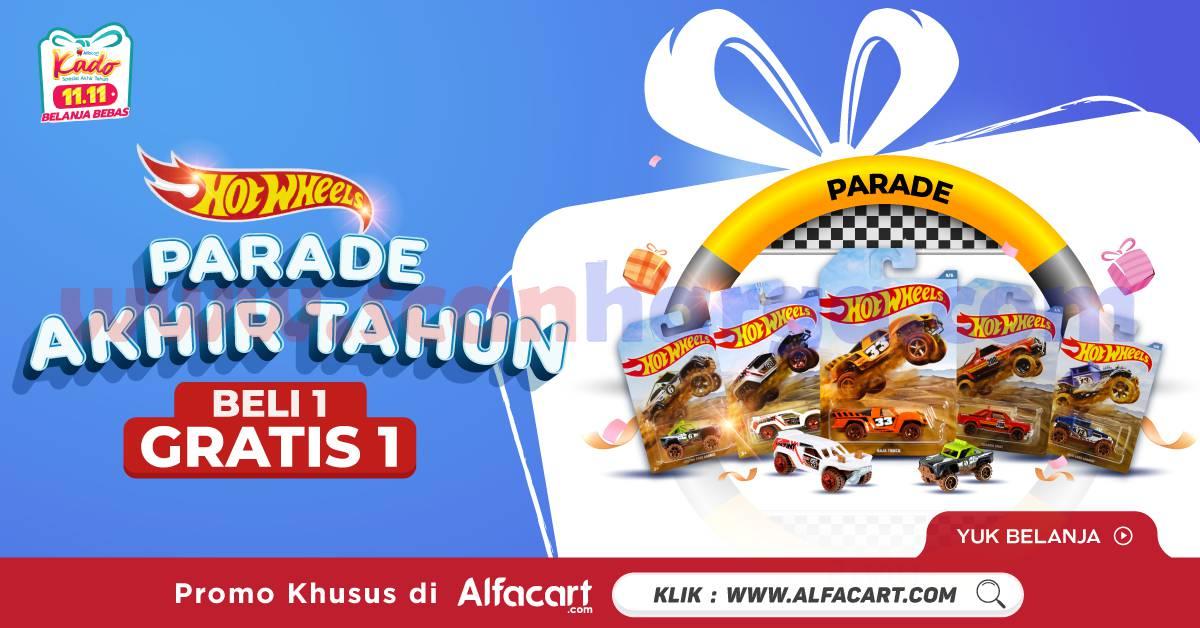 Alfacart Promo Hotwheels Parade Akhir Tahun Beli 1 Gratis 1