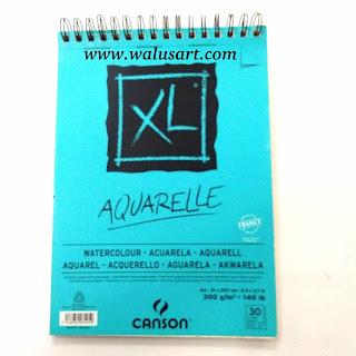 Kertas Canson XL (cold pressed) berbahan pulp