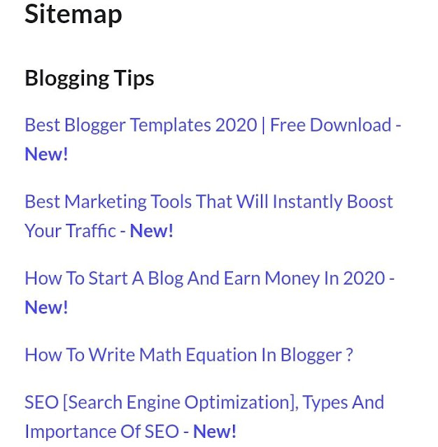 How to create HTML Sitemap page in website