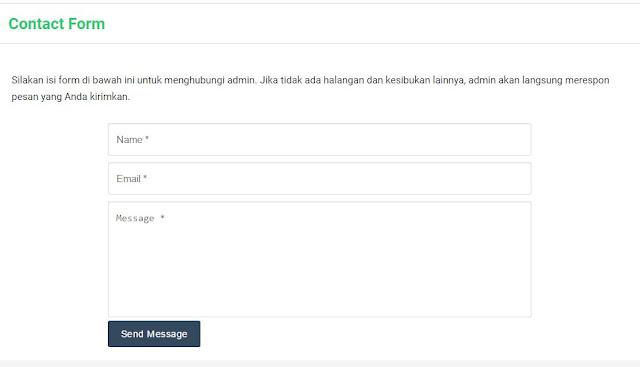 Solusi Contact Form tidak berfungsi pada blog