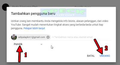 Trik Memindahkan Channel Youtube Ke Akun Google Gmail Lain Agar Cepat Diterima Adsense Youtube
