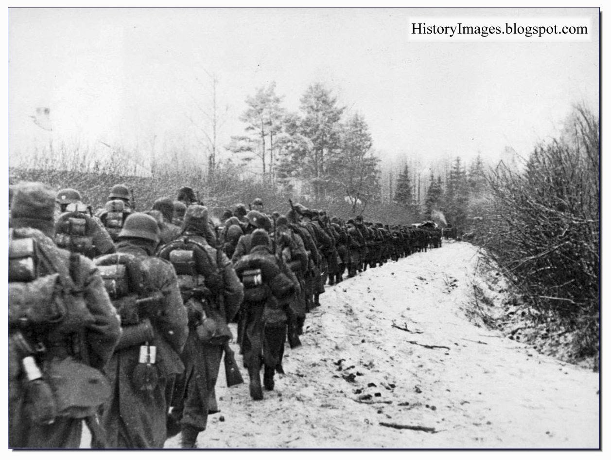 French legion  German army 638th Infantry Regiment  Moscow  Smolensk. November 1941 Rare WW2 Images