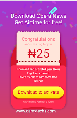 How to Earn airtime from opera news app