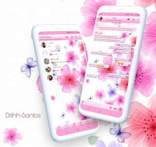 Flowers & Butterfly Theme For YOWhatsApp & Fouad WhatsApp By Driih Santos