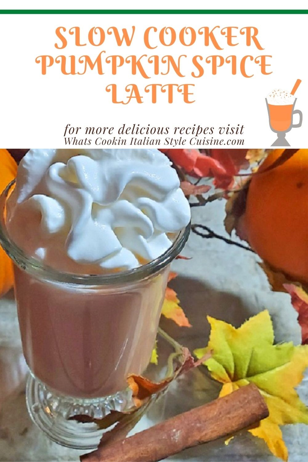 this is a recipe for pumpkin spice latte pin for later