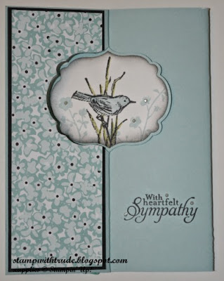 http://stampwithtrude.blogspot.com Stampin' Up! sympathy card by Trude Thoman Simply Sketched stamp set