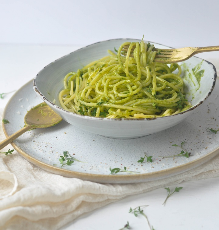 glutenfree Watercress-Pistachio-Pesto, the delicious way to eat your (micro)greens