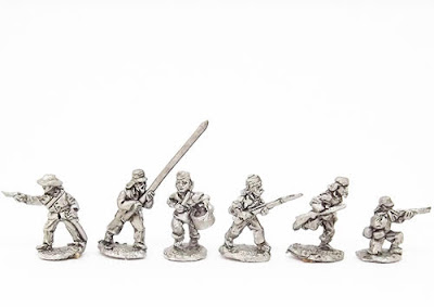 MUB2   Infantry in Campaign dress, inc. comm