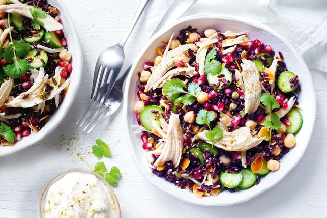 Persian-style chicken and rice salad