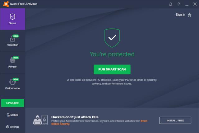 برنامج Avast المجاني لأنظمة الويندوز