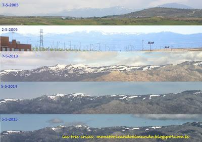 nieve comparada en la sierra de Guadarrama, Mayo