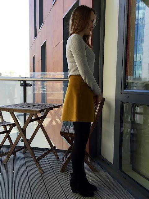 Diary of a Chain Stitcher: Honey Mustard Cotton Corduroy Rosari Mini Skirt from Pauline Alice