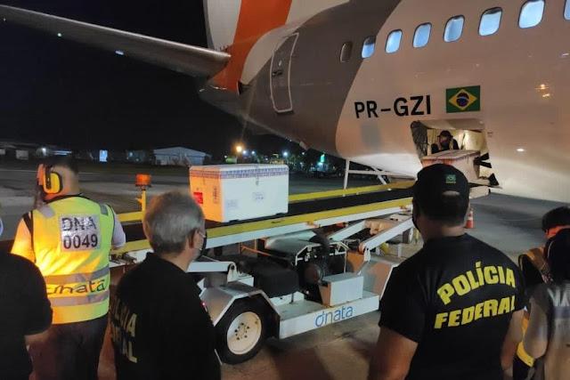 Quase 92 mil doses de vacina contra a covid-19 chegam à Paraíba