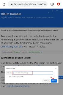 Mendaftar instan artikel Facebook 2021 (update)