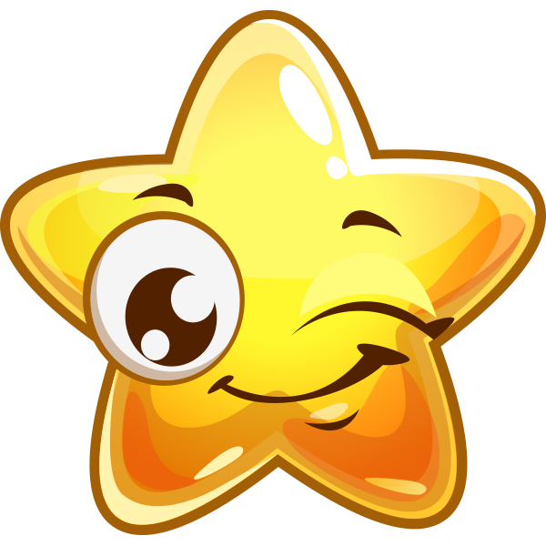 Winking Star Emoticon