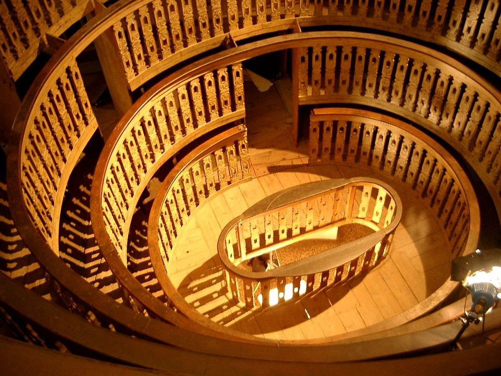 The anatomical theater in Padua.