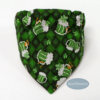 Green Beer Mugs St Patricks Day Lucky Dog Bandana