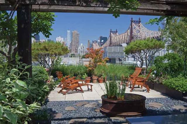 Thiết kế sân vườn đẹp trên sân thượng