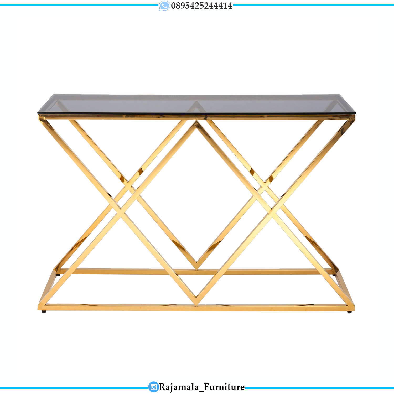 Meja Konsul Minimalis Terbaru Stainless Steel Luxury Design RM-0285