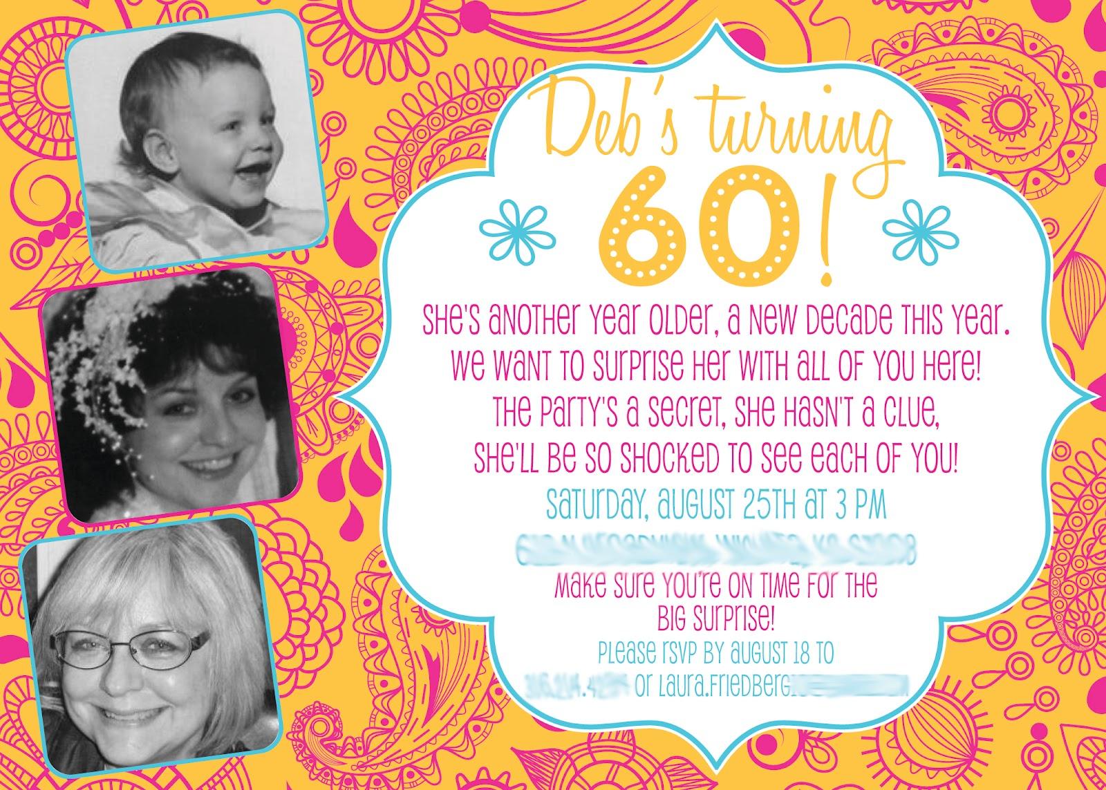 40th Birthday Ideas Invitation Templates 60th Free Printable 1