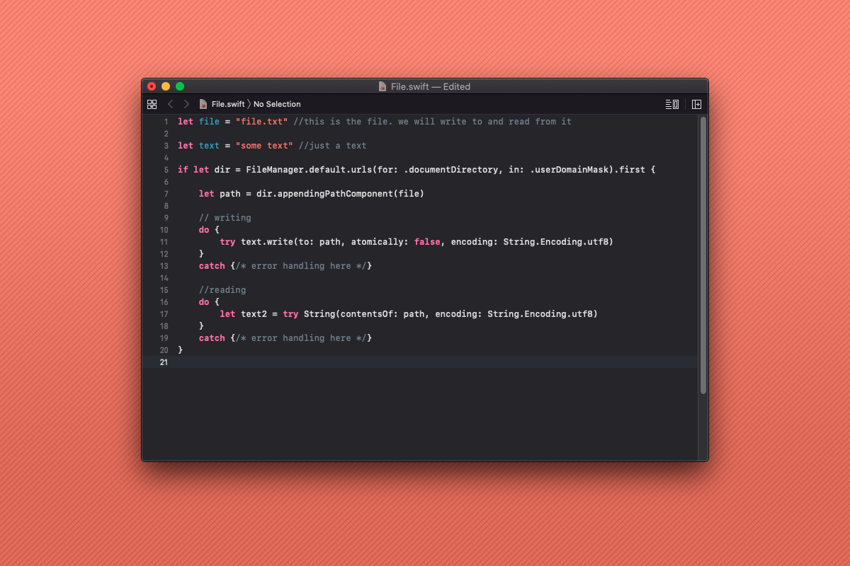 How to read and write file in Swift