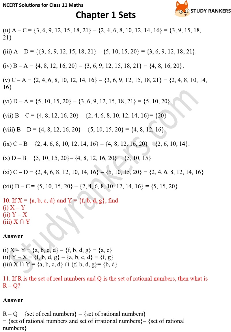 NCERT Solutions for Class 11 Maths Chapter 1 Sets 14