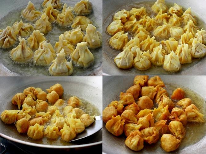 How to deep fry wonton dumplings by SeasonWithSpice.com
