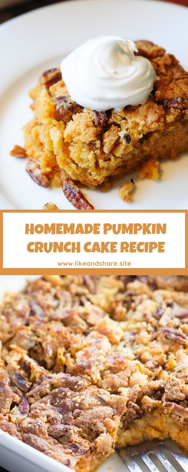 HOMEMADE PUMPKIN CRUNCH CAKE RECIPE