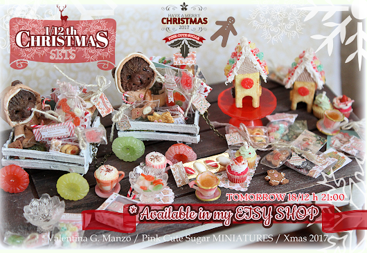 1/12 scale miniature Christmas Sets Collection 2017