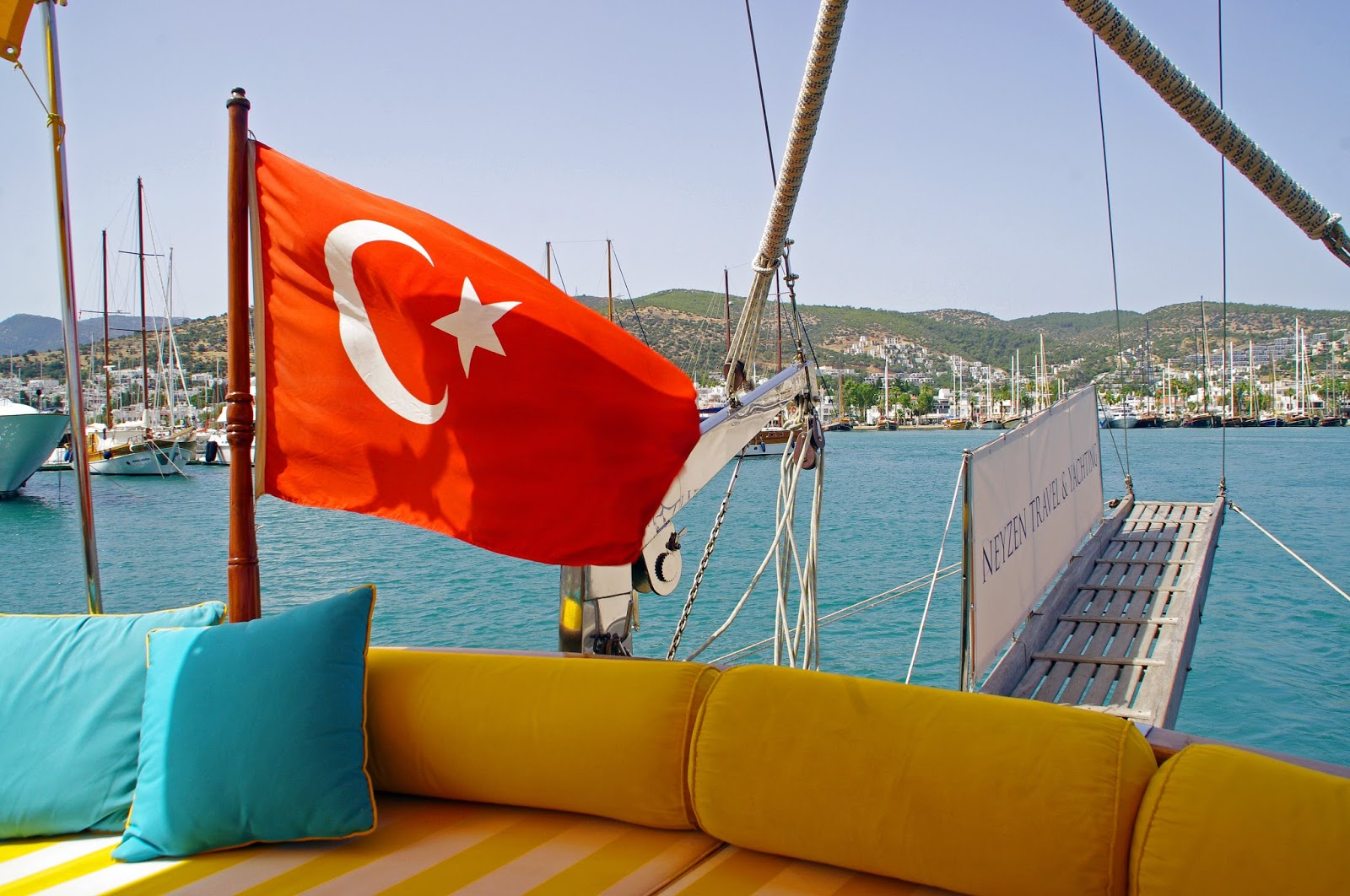 Sailing out of Bodrum