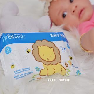 Review Produk : Dr.Browns Baby Wipes, Tisu Basah yang Multifungsi